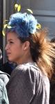 Passejada 2013: look cuidado, el peinado es acorde con el tocado primaveral