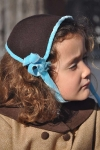 Winter Bonnet marrón/azul