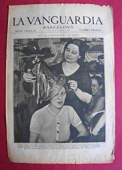 La Vanguardia. Barcelona, año 1934.