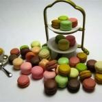 Macarons de colores para el té