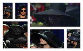 collage funeral Michael Jackson