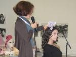 Prueba de color sobre el cabello de Elena Outeiriño