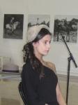 Sombrero plegable; modelo: Elena Outeiriño