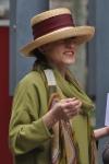 Elegante sombrero de paja cosida