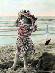 Niña en la playa, 1907.