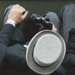 Vista de un sombrero de copa