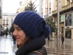 Gorro de lana azul