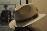 Sombrero expuesto en la  sombrerería Albiñana, Oviedo