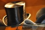 Sombrero de copa expuesto en  sombrerería Albiñana, Oviedo