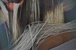Detalle de las fibras del Original Panamá Hat